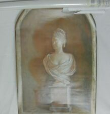 HOME SENSATIONS #8324 TROMPE L'OEIL WALL DECOR MURAL 24X36 WOMAN BUST STATUE NEW