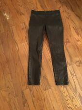 NYDJ Jeans Marca  black Coated Waxed Black Denim Pull On Leggings Pants size 10