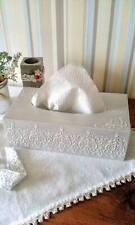 Handmade Tissue box cover wood Shabby chic Rectangular napkins holder