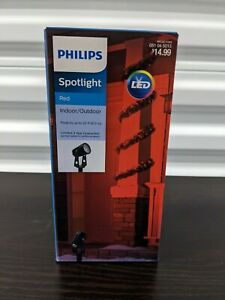Philips LED spotlight - RED - indoor/outdoor, projects to 20ft! Halloween! Xmas!
