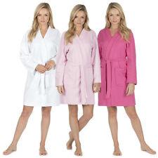 Ladies Lightweight Summer Hotel Spa Waffle Bath Robe Cotton Dressing Gown