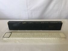 VINTAGE SUN HEMMI BAMBOO SLIDE RULE No 50W IN CASE MADE IN JAPAN