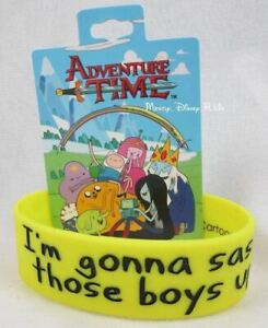 Adventure Time With Finn & Jake: Tree Trunks Sass Boys Up Rubber Bracelet NEW