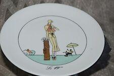 """France Golf Art Porcelain D'Auteuil Jacques Lobjoy plate - Le 19 eme 7 5/8"""""""