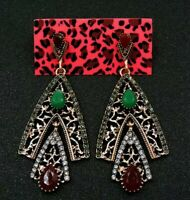 Betsey Johnson beauty gold rare Rhinestone drop earrings women fashion Jewelry