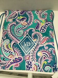 Vera Bradley   VB Drawstring Backsack ~  Backpack  In WAIKIKI PAISLEY - NWT