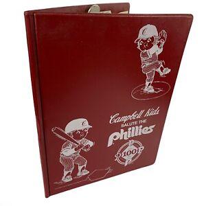 Vintage Philadelphia Phillies Baseball Souvenir 1983 Campbells Kids Portfolio