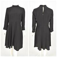 Womens HUGO BOSS Hapinia1 Black Sheath Dress 3/4 Sleeve Classic Size D40 / UK12