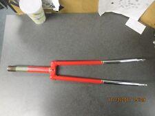 Steel 27in red & chromed road bike fork, 1in threaded steerer,7.25 long, takeoff