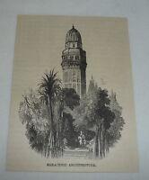 1879 magazine engraving ~ SARACENIC ARCHITECTURE