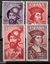 SAHARA  Edifil # 197/200 **  Pioneros / Pioneers