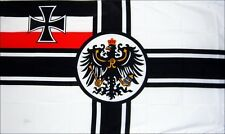 GERMAN IMPERIAL FLAG WITH CREST WORLD WAR 1 WW1 WWI GERMANY SOMME YPRES 3X2 FEET
