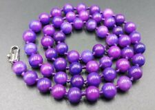 New 8mm natural Purple Sugilite Gemstone Round Beads Necklace 36''