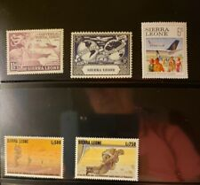 Sierra Leone Aircraft & Aviation Stamps Lot of 6 - MNH -See List