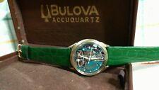 Bulova accutron spaceview 10 kt gold filled bezel vintage del 1965 cal-214 okk