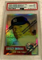 MICKEY MANTLE 1996 FINEST REFRACTOR #3 1953 TOPPS PSA 10 GEM MINT WITH COATING