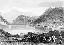 SCOTLAND - LOCH ETIVE (Argyll and Bute) - Engraving from 19th century