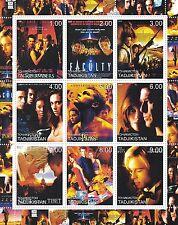 MATT DAMON Brad Pitt LEONARDO DICAPRIO James Bond 2000 Gomma integra, non linguellato FRANCOBOLLO SHEETLET