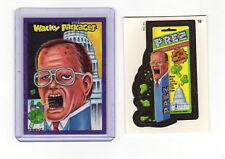 2014 Wacky Packages New Series 1 Prez President Bush Color Chenduz Sketch Card