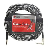 Electric, Bass, Instrument Guitar Lead 10m Meter Long Gig Cable Jack Right Angle