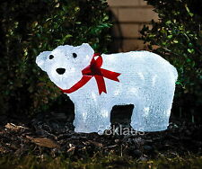 Konstsmide 6124-203 LED Acryl Eisbär 2,4W Dekoration Außen Winter Garten 40 LEDs