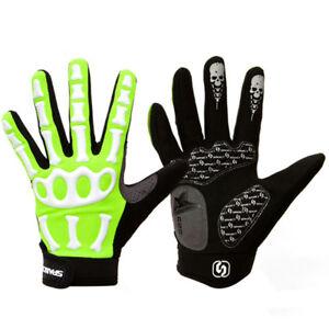 Bicycle Long Full Finger Cycling Winter Bone Cool Soft Skeleton MTB Bike Gloves
