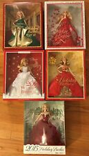 LOT of 6 Holiday Collector Barbie 2011 2012 2013 2014 2015 New in Box Mint