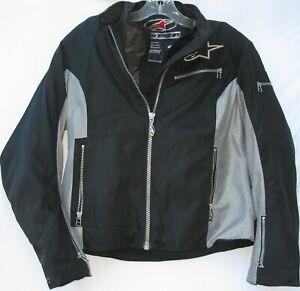 Alpine Stars women's zip front motorcycle jacket w/ elbow protection size medium