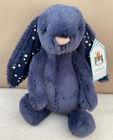 NEW Jellycat Small Navy Stardust Bashful Bunny Rabbit Soft Toy Comforter BNWT
