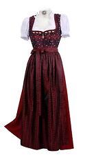 Dirndl Trachtenkleid Damen lang festlich Festtagsdirndl Rot Bordeauxe