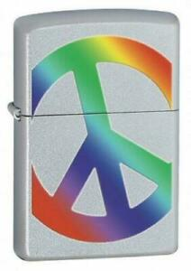 Zippo Peace Brushed Chrome Lighter 24475  BNWT