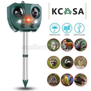 ❤ KCASA Solar Ultrasonic Pest Animal Repeller Motion Sensor Possum Repellent AU
