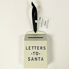 Hearth and Hand Magnolia LETTERS TO SANTA White+Black Xmas Tree Mailbox Ornament