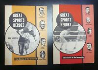 2 VINTAGE GREAT SPORTS HEROES Magazines. Ruth, Gehrig, DiMaggio, Grange, Dempsey
