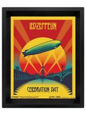 Led Zeppelin Poster Lenticular Celebration Day 3D Framed 20x25cm