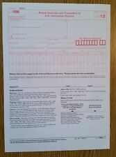 2012 IRS Tax Form 1096 Annual Summary and Transmittal (for 1099's to IRS)