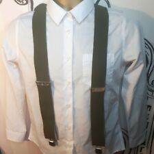 Vintage Braces Herkules Germany Thick Straps Green Heavy Duty Suspenders