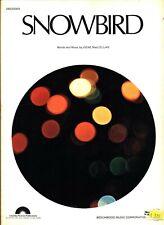 Gene MacLellan Snowbird Sheet Music Piano/Vocal/Guitar/Chords Very Rare New 1970