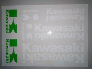 Kawasaki Aufkleber Weiß