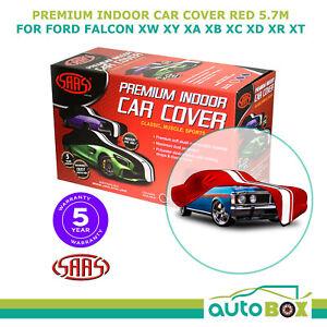 SAAS RED XL SHOW CAR COVER INDOOR DUST FORD FALCON XW XY XA XB XC XD XR XT 5.7m