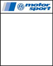 VW Panneau Porte course Motorsport / Autocollants (x2) 400mm x 500mm imprimé & feuilleté