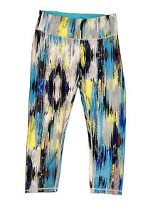 Caelum Womens Capri High Waisted Leggings Active Athletic Pants | Small Colorful