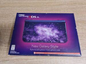 New Nintendo 3DS XL Galaxy Style Purple Handheld Console. NIB
