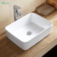 Ceramic Vessel Sink Porcelain Vanity Basin with Pop Up Drain Combo Bathroom