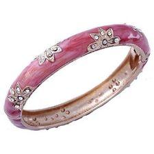 Yellow GF Cuff Enamel Bangle Bracelet Womens Fashion Flower Crystal Bracelet