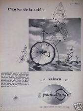 PUBLICITÉ 1957 MONCITRON LA SOIF EST VAINCU - DESSIN BOUCHAUD - ADVERTISING