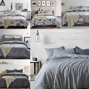 Printed Bedding Set Soft Duvet Cover Quilt Pillowcase Twin Queen King All Size