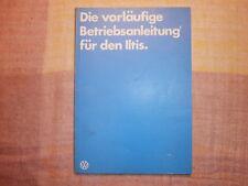 VW Iltis, vorl. Betriebsanleitung BW Ausführung,Nov.1978,120 S., neuwertig RAR !