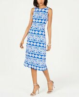 Jessica Howard Women's Geometric Printed Midi Dress Size 16