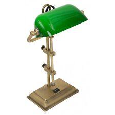 Steinhauer 7734BR Schreibtischleuchte messing Glas grün E27 60 Watt max